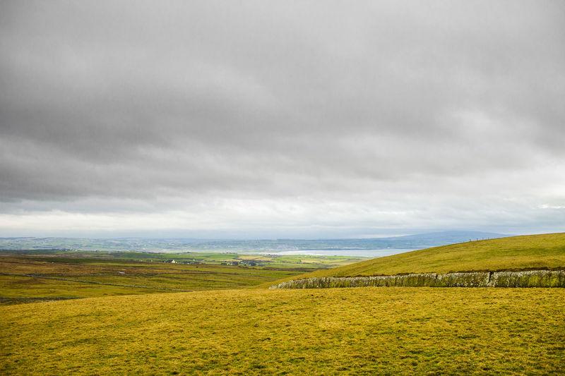 Landscape of irish countryside