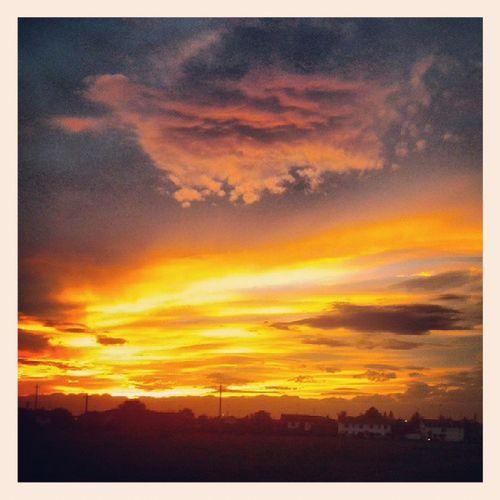 Sunset Tramonto Dietrocasa Spettacolo
