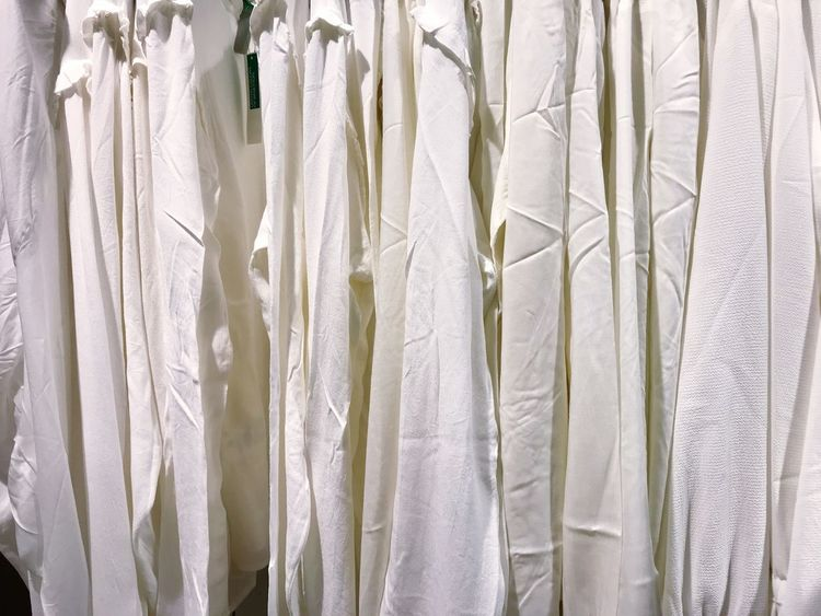 White Shirt White Clothes Retail  Clothing Clothes Backgrounds Textile Crumpled Full Frame White Color No People Hanging Textured