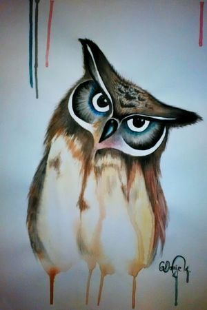 Owl Owl Art Owllife OWLEYE Owllove Owlart Art ArtWork Art, Drawing, Creativity Check This Out Like Q Drawing Painting Colors Color