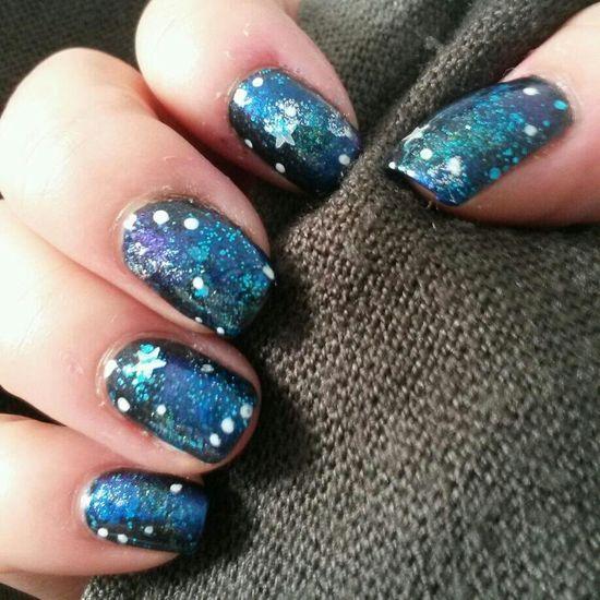 Nail Art Galaxy Nails Stars Space