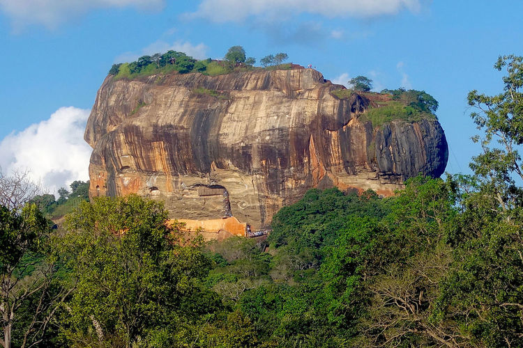 The Lion's Rock at Sigiriya in Sri Lanka. Beauty In Nature Cloud Day Geology History Holy Place Idyllic Landscape Lion Rock Mountain Nature Non-urban Scene Physical Geography Rock Rock Rock - Object Rock Formation Scenics Sigiriya Sky Sri Lanka Tranquil Scene Tranquility Travel Destinations Trees