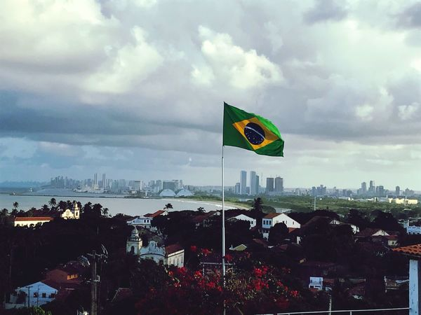 Flag Cloud - Sky Sky Brazil Patriotism Olinda Alto Da Sé - Olinda/PE Pernambuco The Week On EyeEm
