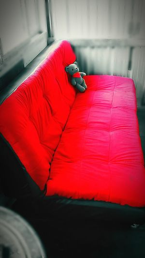 Red Shiny Day Little Bear Red Sofa