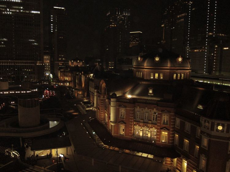 Japan Tokyo Tokyo Station Station Archtecture Light And Shadow Illuminated Night Building Cityscape City City Life Residential Building Residential District Dark Elevated View Development Eyeemarchitecture EyeEm Best Shots KITTE Style Ultimate Japan