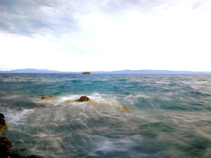 Makarska, Croatia EyeEmNewHere EyeEm Selects Water Wave Sea Sea Life Beach Sky Horizon Over Water Cloud - Sky