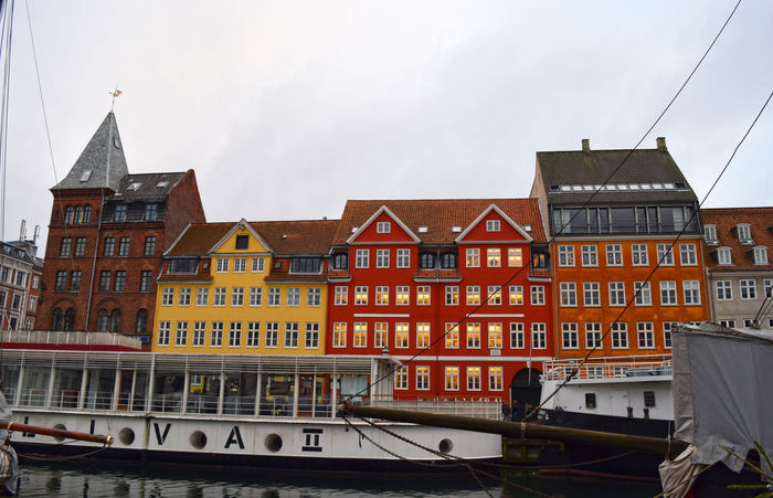 Nyhavn Architecture Building Exterior Built Structure City City Life Copenhagen Copenhagen, Denmark Day Façade No People Nyhavn Outdoors Sky