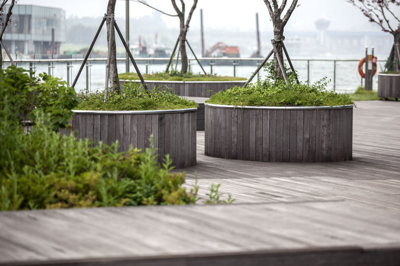 Built Structures In Yeouido Hangang Park By Han River