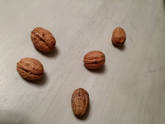 EyeEm Selects Food And Drink Nut - Food Food Walnut Brown Table Still Life Freshness High Angle View Nutshell Cookie No People Indoors  Healthy Eating Dried Fruit Close-up Day Ready-to-eat