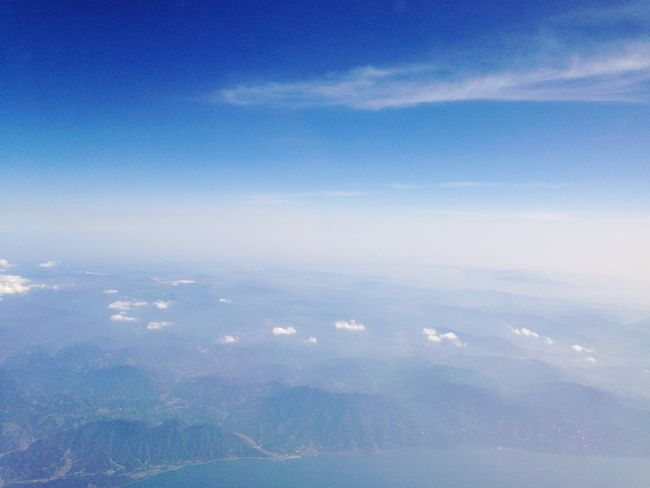 Sky From An Airplane Window