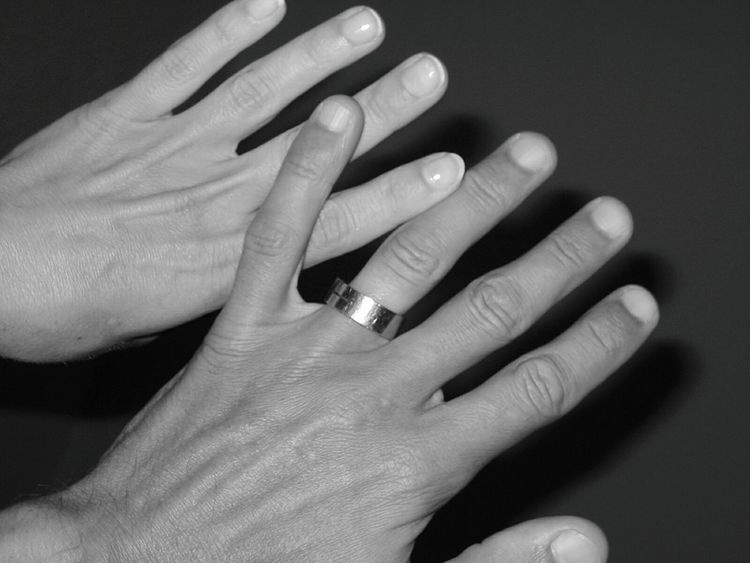Hands She And He She And Me She And Me ❤️ HJB Ring On Finger Love Black And White Fingers Fingerring Ring Hand