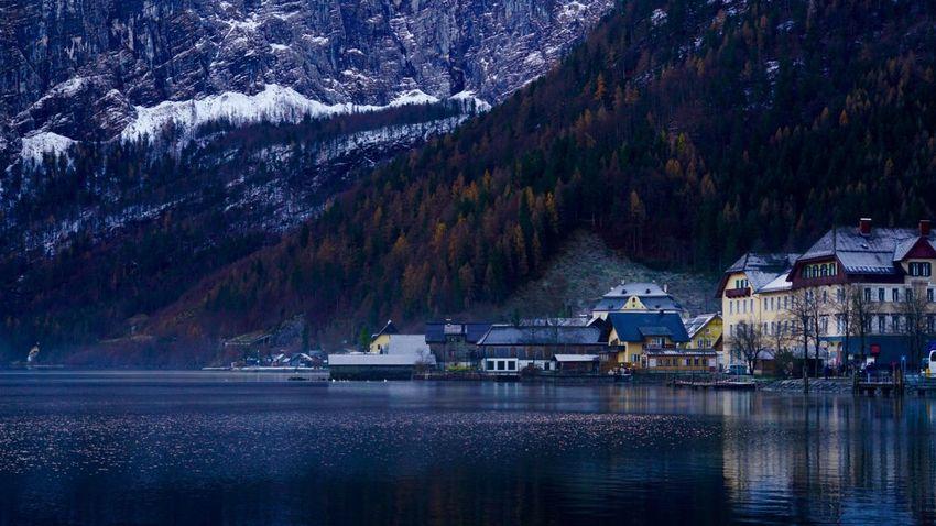 Hallstatt, Austria 💙 Water Reflection Lake View Landscape_photography Landscape Architecture Shades Of Winter