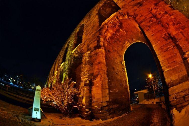 Valens aqueduct - Istanbul Night Architecture Travel Destinations History Travel Byzantine Empire