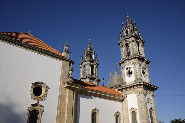 sanctuary nossa senhora remedios Architecture Bell Tower Building Exterior Built Structure Day History Low Angle View No People Outdoors Place Of Worship Religion Sky Spirituality Travel Destinations