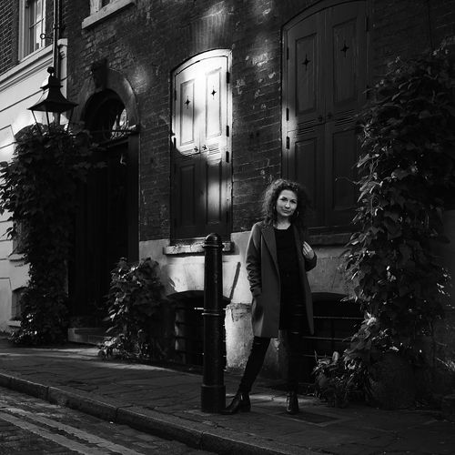Londoner London LONDON❤ London_only Londonlife EyeEm Selects Woman Full Length Portrait Standing Illuminated Tree Architecture Building Exterior Built Structure City Street Street Street Scene