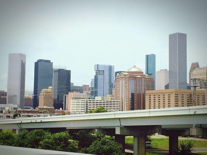 Cloudy Houston Houston Downtown