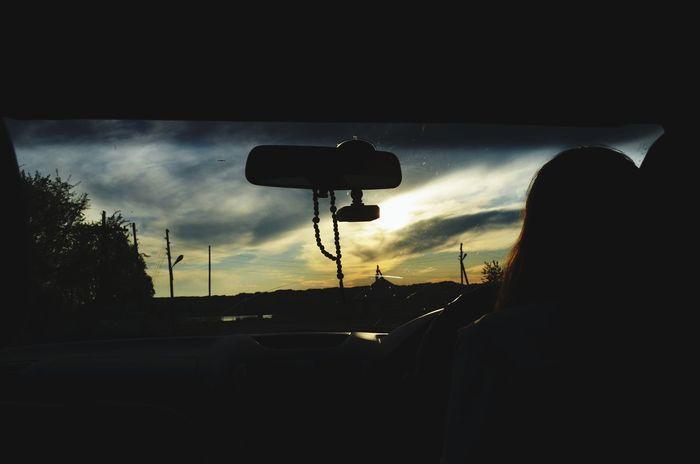 Beautiful Sunset Car Sky