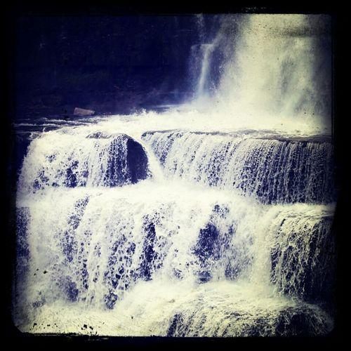 Waterfall Walking Around Nature Beautiful