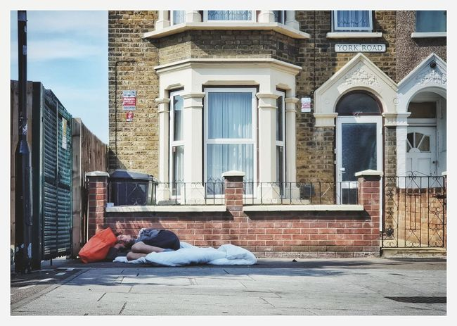 Such a irony - Homeless London Housing Crisis City Politics And Government Full Length Architecture Building Exterior Built Structure The Street Photographer - 2018 EyeEm Awards EyeEmNewHere