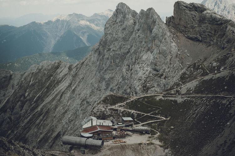 Moon base Mountain Mountain Range Scenics - Nature Landscape Outdoors Architecture Mountain Peak Karwendel Bayern Bavaria Alps Hiking Adventure Travel Travel Photography View Base Camp