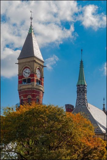 DT _ Clock tower -10/4/17 EyeEmNewHere Jefferson Mkt. Library, Once The Woman's House Of Detention Lost In The Landscape Originally Built As A Court House In 1874 Architecture Historical Place Malephotographerofthemonth