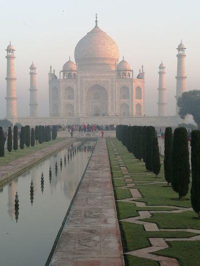 the Taj Mahal a