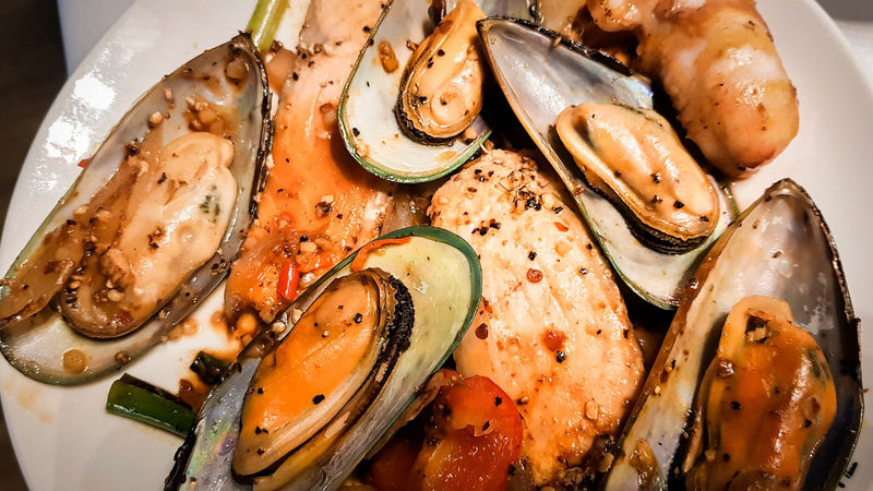 seafood Seafoods Salmon Grill Grill Clam Miesmuschel Lachs Yummy High Angle View Food And Drink Indoors  No People Freshness