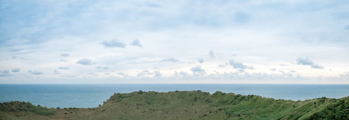 Sea Horizon Over Water Sky Scenics Water Beauty In Nature Nature Beach Cloud - Sky Tranquility Outdoors Tranquil Scene Day No People Seongsan-ilchulbong Jeju
