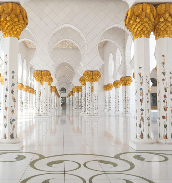 Abu Dhabi Abundance Amazing Architecture Architectural Column Architectural Feature Arrangement Day Decoration Design Grand Mosque In A Row Mosque No People Ornate Religion Repetition Sheikh Zayed Grand Mosque Side By Side Tablecloth Travel Travel Photography Traveling United Arab Emirates