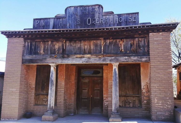 Opera House Pinos Altos NM Road Trip Roadside Find Old Building  Historical Building