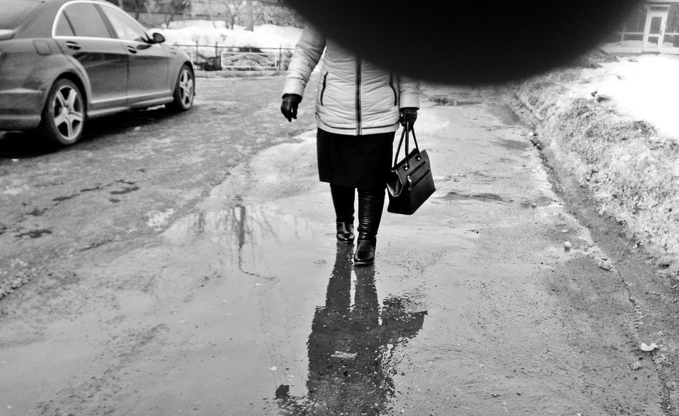 Real People Rear View One Person Walking Day Wb People Stranger One Woman Only The Street Photographer - 2017 EyeEm Awards