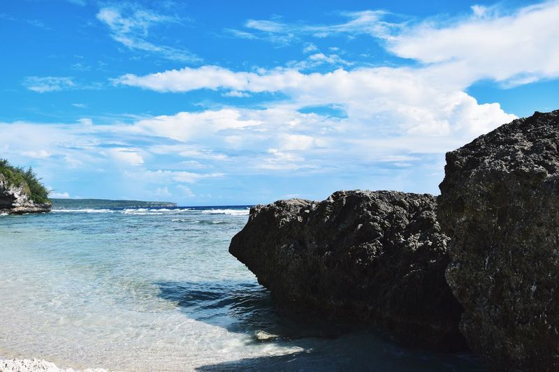 塞班岛 美国 Saipan Saipan Nature Saipan Photos Cnmi USA Vscocam VSCO Nikon D3300 Nikon Water Sky Cloud - Sky Sea Beauty In Nature Nature Land Scenics - Nature Beach Rock Tranquility Day Rock - Object Tranquil Scene No People Solid Motion Sunlight Outdoors