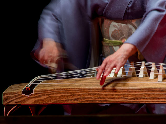 Close-up Cropped Day E-p5 Focus On Foreground Harp Japan Japanese Harp Kimono Koto Lifestyles Motion Olympus Part Of Selective Focus Traditional Clothing Traditional Culture Tuchiura Wood - Material