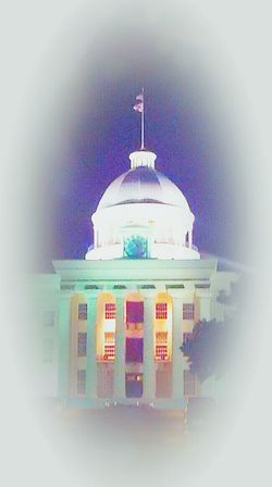 Alabama Montgomery, Al. State Capital Downtown Night Lights Night Photography