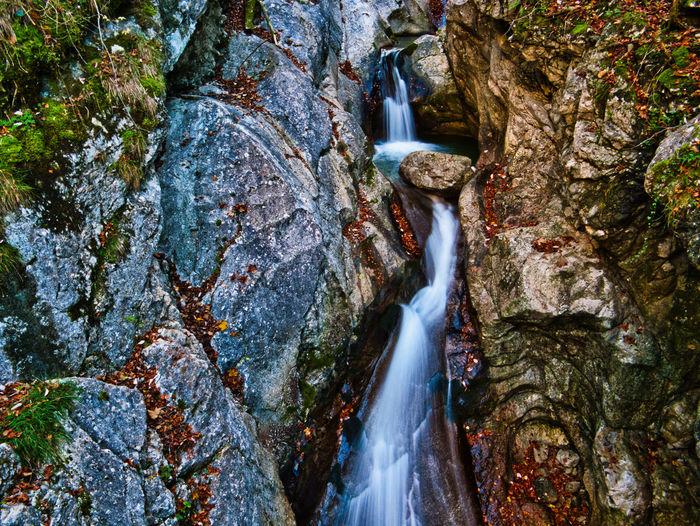 Autumn on the rindbach waterfall