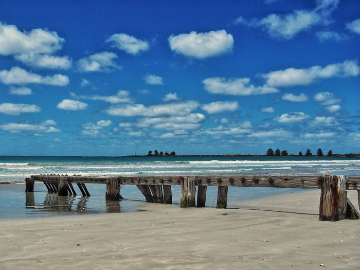 Abandoned pier at Port Fairy, Victoria, Australia Victoria Australian Beaches Australia Port Fairy Victoria Australia Port Fairy Sky Beach Cloud - Sky Water Sea Scenics Beauty In Nature Nature Tranquility No People Outdoors Horizon Over Water