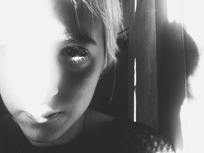 Selfportrait The New Self-Portrait Blackandwhite Light And Shadow Monochrome Eyes Darkness And Light