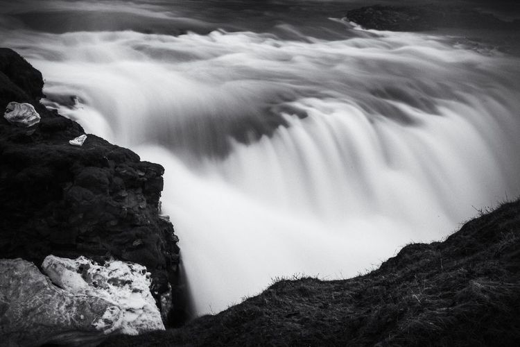 Gullfoss Check This Out Exceptional Photographs Tadaa Community Eye4photography  EyeEm Nature Lover Landscape EyeEm Masterclass EyeEm Best Shots Iceland Gullfoss Monochrome Blackandwhite Black And White Waterfall Schwarzweiß Long Exposure The Great Outdoors - 2016 EyeEm Awards