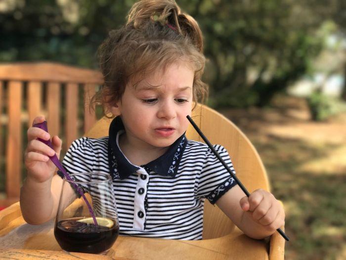 Toddler  Drinking Coca Cola Girl Children