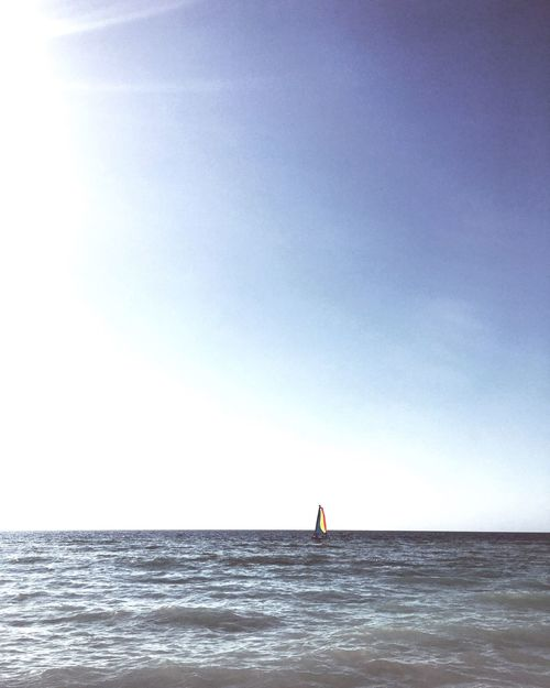 Come sail away - sail away with me. Sea Horizon Over Water Leisure Activity Clear Sky Water Lifestyles Scenics Nature Beauty In Nature Beach Day Tranquility Outdoors First Eyeem Photo