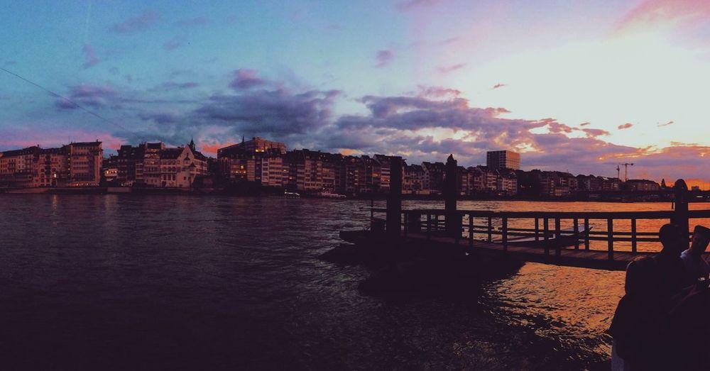 Sky Water Cloud - Sky City Outdoors River Sunset