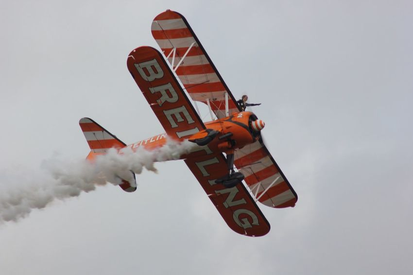 Brietling Wing-Walkers Display Team BRIETLING TEAM Propeller Aeroplane Aircraft Fuel And Power Generation Flying Mid-air Extreme Sports Redbullairrace2016 Exhilaration Performance Pilot Ascot Brietling