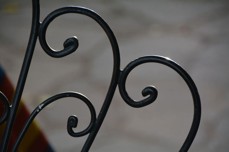Close-up of metal structure