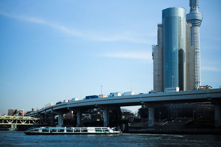 Sumida river Tokyo Sumida River Tokyo Architecture Bridge Bridge - Man Made Structure Building Building Exterior Built Structure City Connection Day Modern Nature No People Office Building Exterior Outdoors River Sky Skyscraper Transportation Water Waterfront