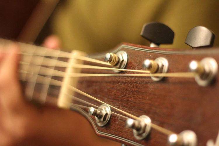Close-Up Of Guitar Headstock