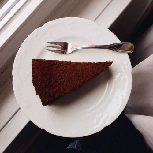 Cake Chocolate Chocolate Cakes Chocolate Time From My Point Of View Looking Down Plate In My Mouf Baking Fork Cocoa Cacao