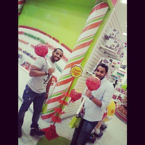 Me I with @meshaal_n Candyshop Dubimall chupachups saudiarabia saudistyle saudi ksa khobar dammam bahrain kuwait uae mmu