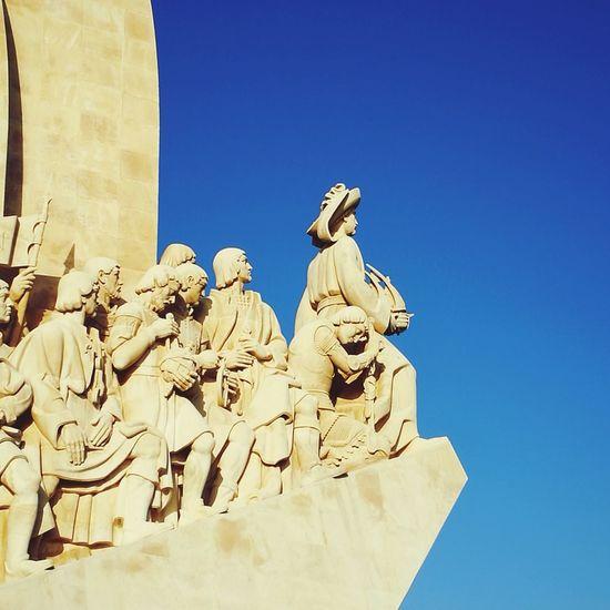 Navigator  Discoveries Monument Portugal Lisbon - Portugal Lisboa City Clear Sky Sculpture Blue Statue History Human Representation Sculpted