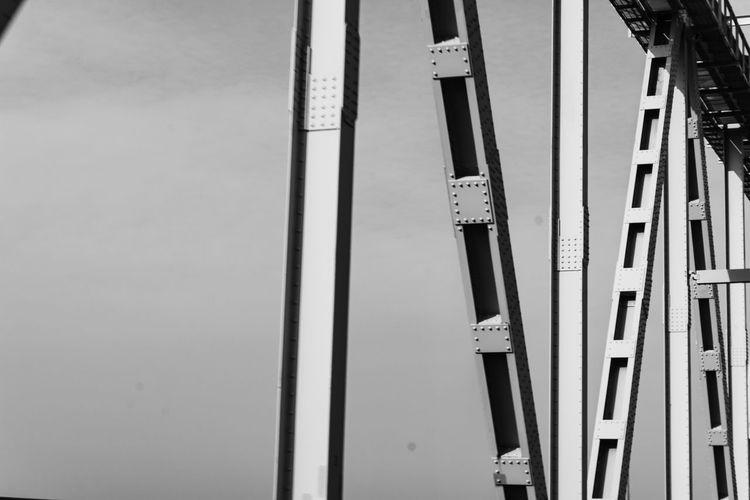 Metal Beams Architecture Bridge Bridge - Man Made Structure Built Structure Metal No People Rivets Transportation The Architect - 2018 EyeEm Awards