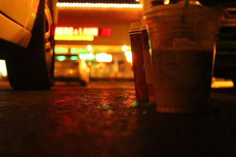 Onemanstrashisanothermanstreasure Trash Walking Around Starbucks Nightphotography Lights Walking Cityscapes Losangeles CA